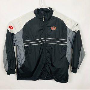 Vtg 80s 90s SF 49ers Reebok Lite Jacket NFL XL